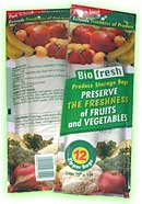 Bio Fresh Resealable Zipper Produce Bags